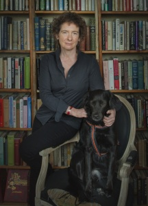Jeanette Winterson with Colette at Shakespeare and Company