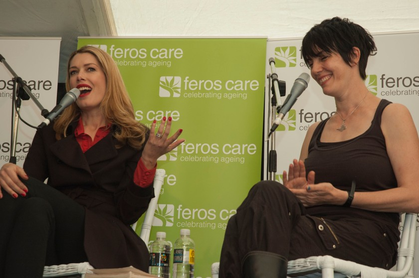 Tara Moss and Kate Holden, discussing women's issues. Photo credit: Cath Pliltz