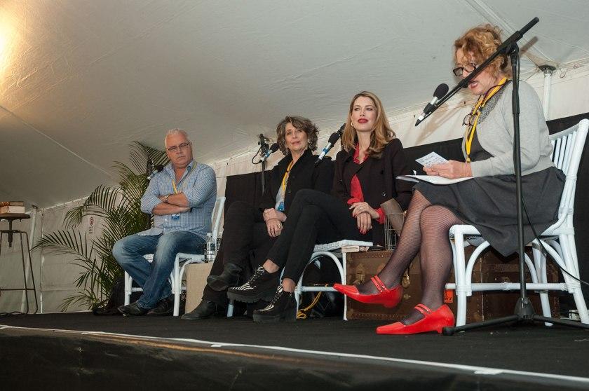 Matthew Condon, P.M. Newton, Tara Moss, & Moya Sayer-Jones on The Nature of Corruption. Photo: Cath Piltz