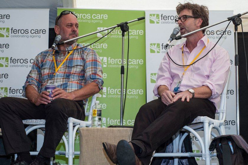 Tim Flannery (left) and Ian Hoskins discussed the health of the oceans